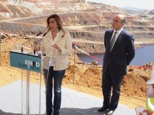 La presidenta de la Junta y el Vicepresidente de EMED Tartessus